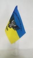 Флаг 130 ОРБ девиз Неможливого не буває! Сова. Настільний прапорець