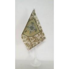 Флаг 10 окрема гірсько-штурмова бригада Новий знак (пиксель) настільний