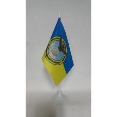 Настільний прапорець Воєнна Розвідка України. Знак Сова з мечем