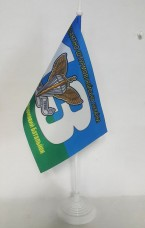 Настольний флажок 13 окремий аеромобільний батальйон ДШВ синьо-зелений