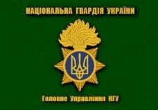 Прапор ГУ НГУ (зелений новий знак)