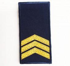 Погони НГУ синього кольору Сержант