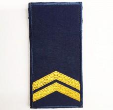 Погони НГУ синього кольору Молодший Сержант