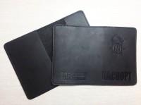 Обкладинка на Паспорт тиснення новий знак НГУ (чорна) Акція Оновлення Асортименту