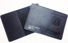 Купить Обкладинка на Паспорт тиснення новий знак ЗСУ (чорна) в интернет-магазине Каптерка в Киеве и Украине
