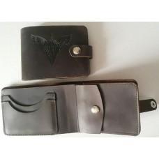 Шкіряний гаманець з символикою ДШВ України. Brown