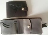 Шкіряний гаманець з символікою ДШВ України. Brown