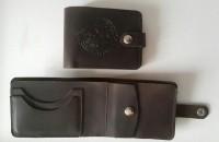 Шкіряний гаманець з символикою ССО України Brown