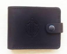 Шкіряний гаманець Прикордонная Служба України (чорний)