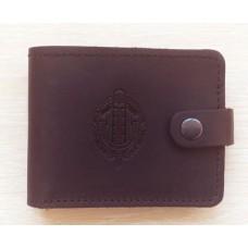 Шкіряний гаманець Прикордонная Служба України (коричневий)