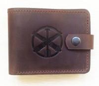 Шкіряний гаманець ППО ЗСУ (коричневий)