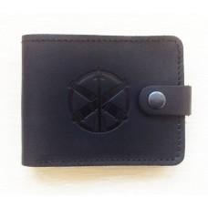 Шкіряний гаманець ППО ЗСУ (чорний)