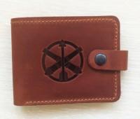 Шкіряний гаманець ППО ЗСУ (рудий)