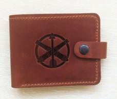Купить Шкіряний гаманець ППО ЗСУ (рудий) в интернет-магазине Каптерка в Киеве и Украине