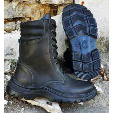Ботинки кожанные облегченные с мягким верхом берц