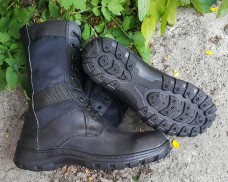 Облегченные ботинки черные. Вставки стропа