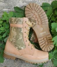 Облегченные ботинки женские бежевые со вставками укрпиксель