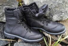Зимние женские ботинки на меху. Черные. Берцы 14см