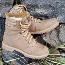 Зимние женские ботинки на меху. Койот -криптек. Берцы 14см