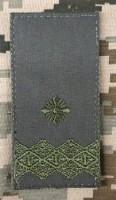 Погон Генерал-Майор ОЛИВА (Тип 1) на липучці