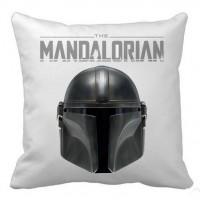 Декоративна подушка Mandalorian Helmet (біла)