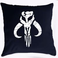 Подушка Mandalorian logo (чорна)