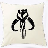 Подушка Mandalorian logo (біла)