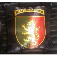 Декоративна подушка 24 ОМБр з новим шевроном (чорна)