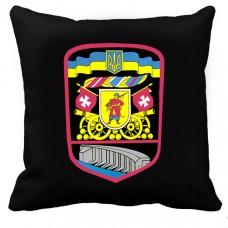 Декоративна подушка 55 ОАБр Запоріжжя (чорна)