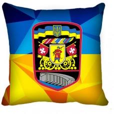 Декоративна подушка 55 ОАБр (жовто-блакитна старий знак)