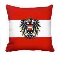 Декоративна подушка прапор Австрії з гербом