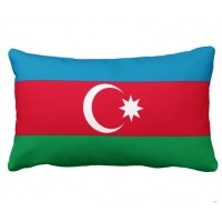 Декоративна Подушка флаг Азербайджана