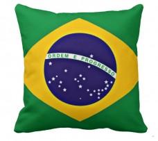 Декоративна подушка прапор Бразилії