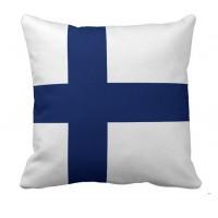 Декоративна подушка прапор Фінляндії