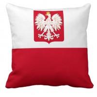 Декоративна подушка прапор Польщі з гербом