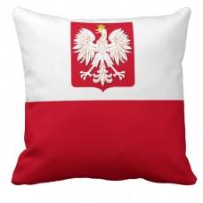 Подушка флаг Польши с гербом