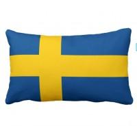 Декоративна подушка прапор Швеції