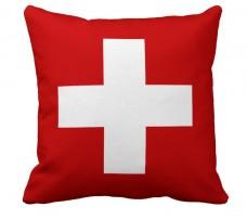 Подушка флаг Швейцарии