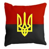 Подушка красно-черный флагсТризубом
