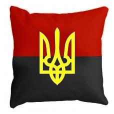 Декоративна подушка червоно-чорний прапорзТризубом
