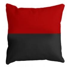 Подушка красно-черная