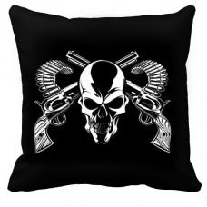 Декоративна подушка Череп та револьвери