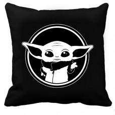 Купить Декоративна подушка Baby Yoda (чорна) в интернет-магазине Каптерка в Киеве и Украине