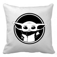 Купить Декоративна подушка Baby Yoda (біла) в интернет-магазине Каптерка в Киеве и Украине