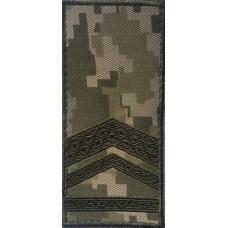 Погон на липучці камуфляж ММ14 Старший прапорщик Знижка 40% (лички)