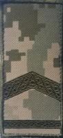 Погон на липучці камуфляж ММ14 прапорщик Знижка 40% (лички)