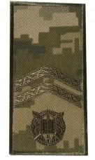 Погони курсантські Молодший сержант на липучці Пиксель