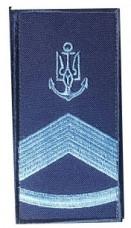 Погон ВМСУ Головний корабельний старшина 2 статті. На липучці. Синій