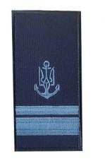 Погони ВМСУ лейтенант. На липучці. Синій
