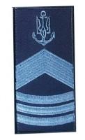 Погони ВМСУ Старший Мічман. На липучці. Синій